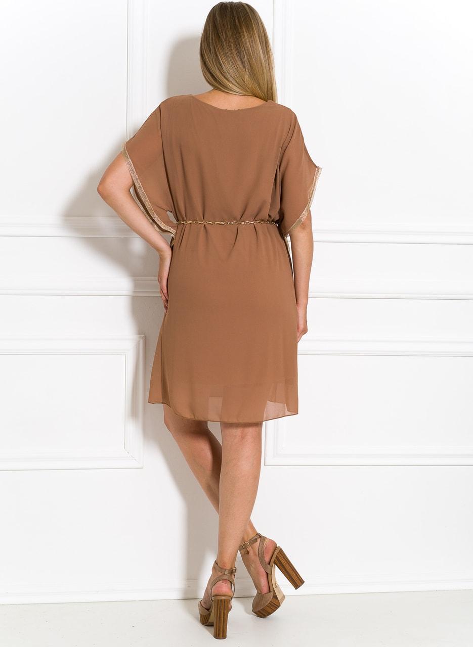 d90f8e4acf Glamadise.sk - Antické letné šaty mocca - Glamorous by Glam - Letní ...