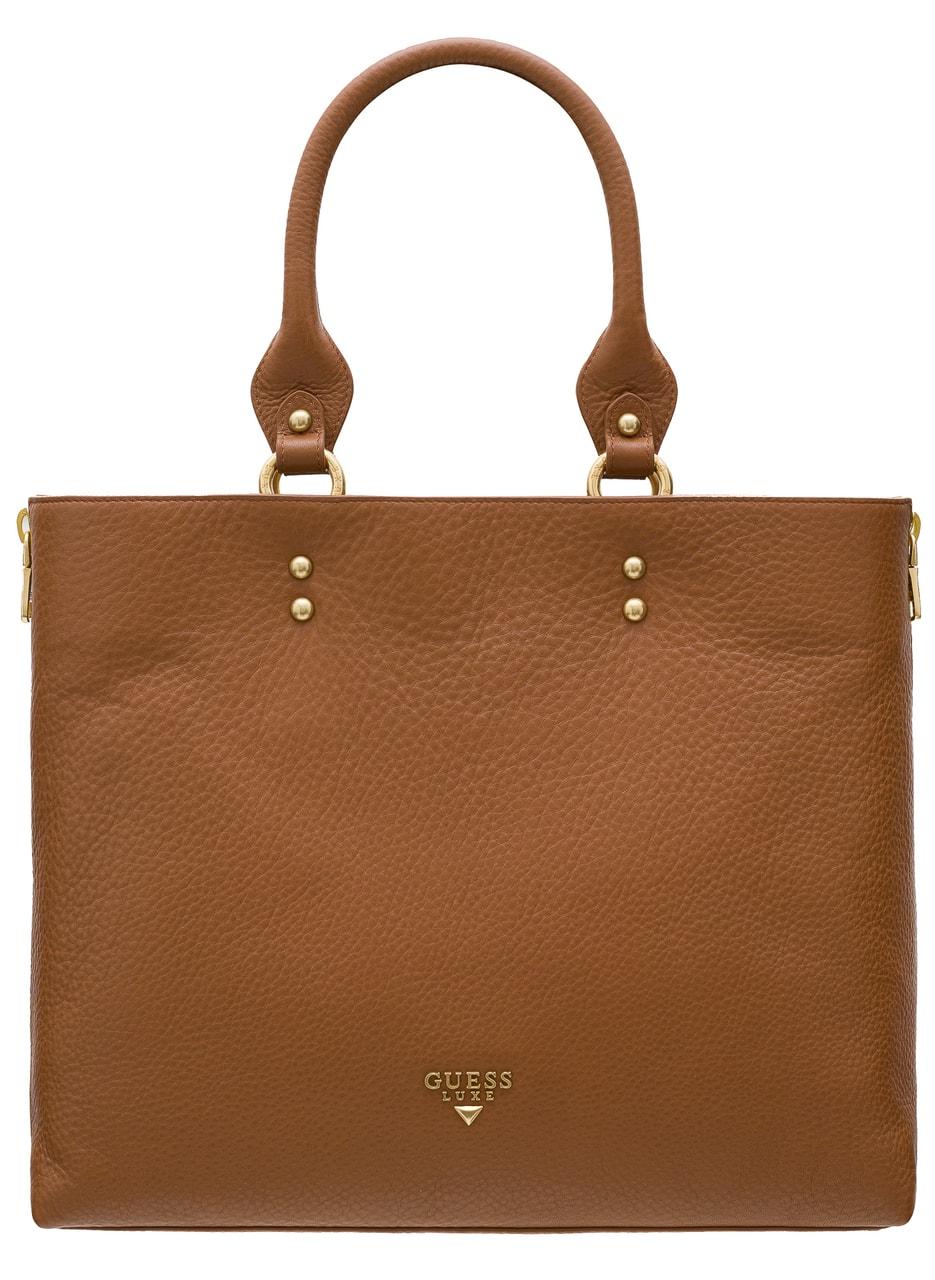 829f4731e1 Guess Luxe kožená kabelka do ruky camel - Guess Luxe - Do ruky ...