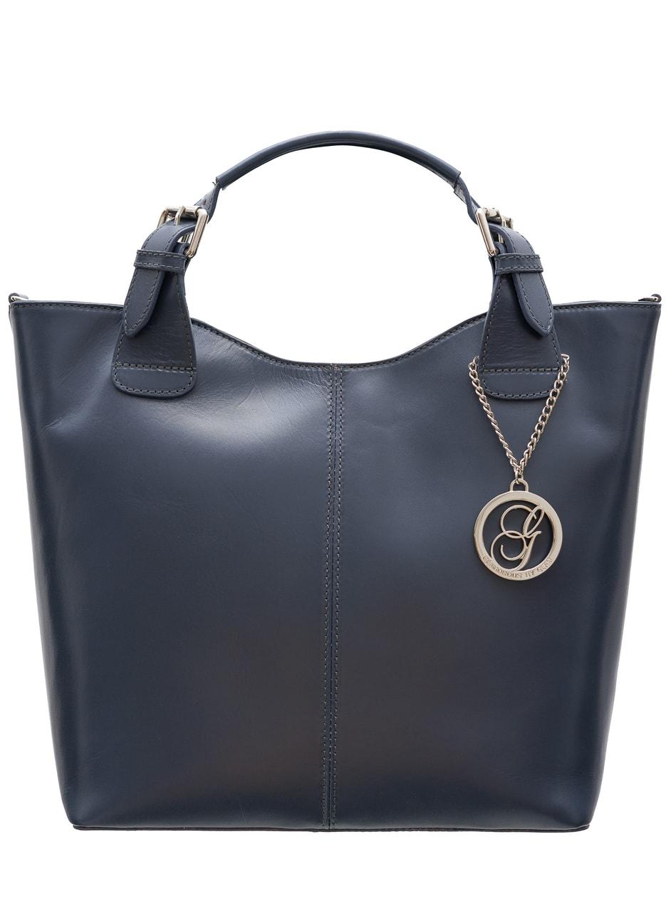 785272d6d7 Dámská kožená kabelka do ruky - šedá - Glamorous by GLAM - Do ruky ...