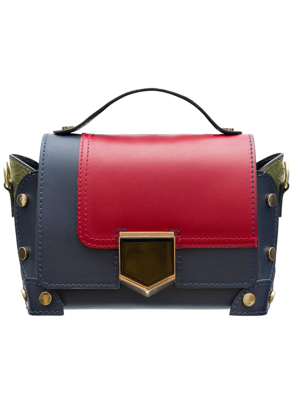 a41685c865 Dámská kožená crossbody kabelka se zdobením - multi color ...