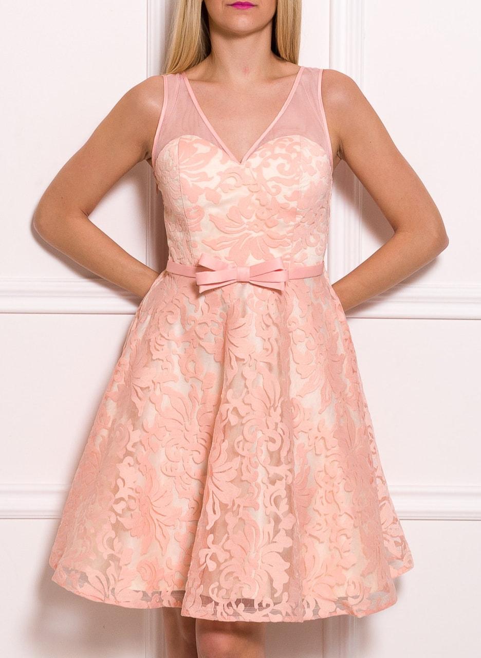 3250f370eb Glamadise.hu Fashion paradise - Női csipkeruha Due Linee - Rózsaszín ...