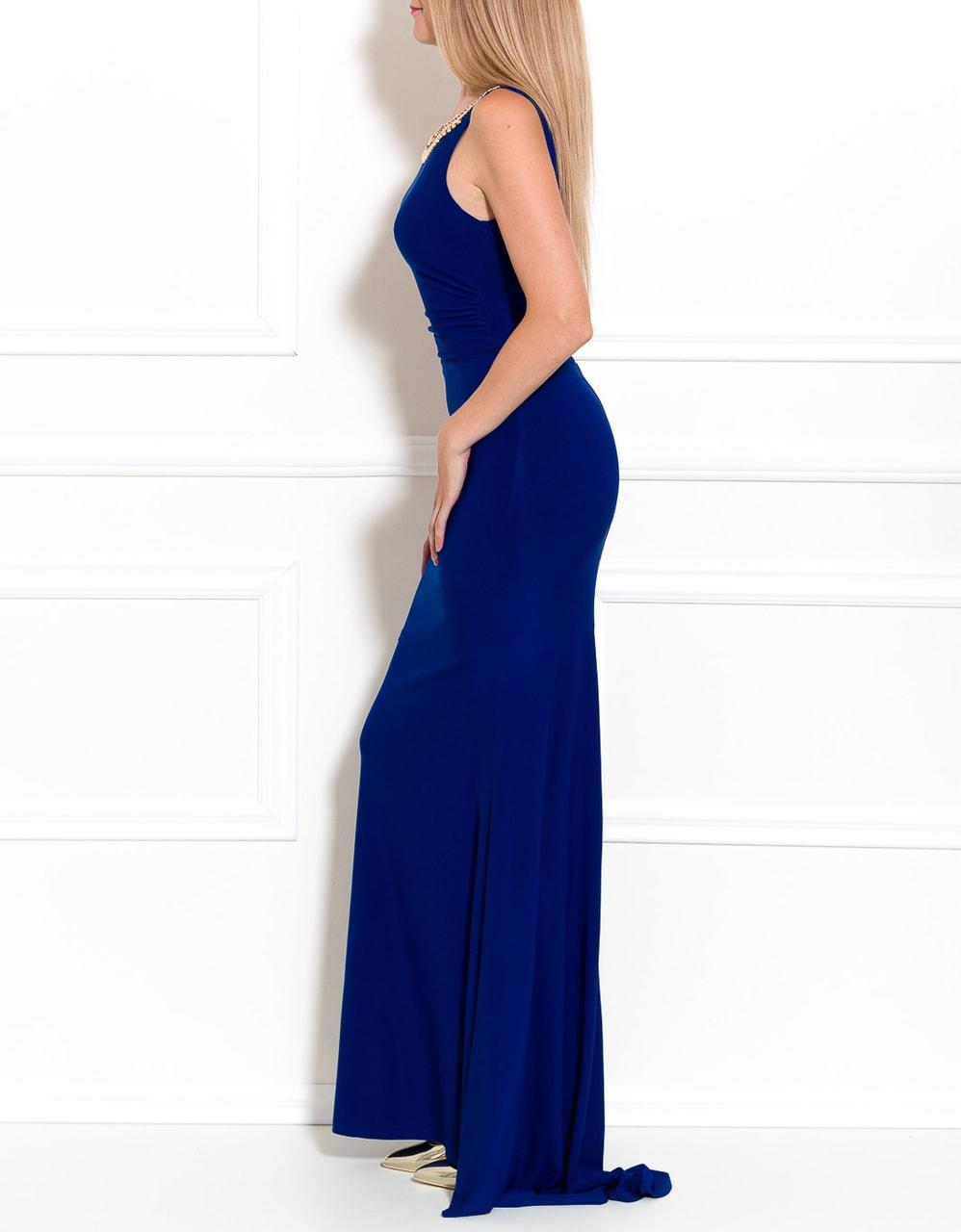 3ba377f57be8 Glamadise.sk - Spoločenské dlhé šaty s náhrdelníkom - modrá - Due ...