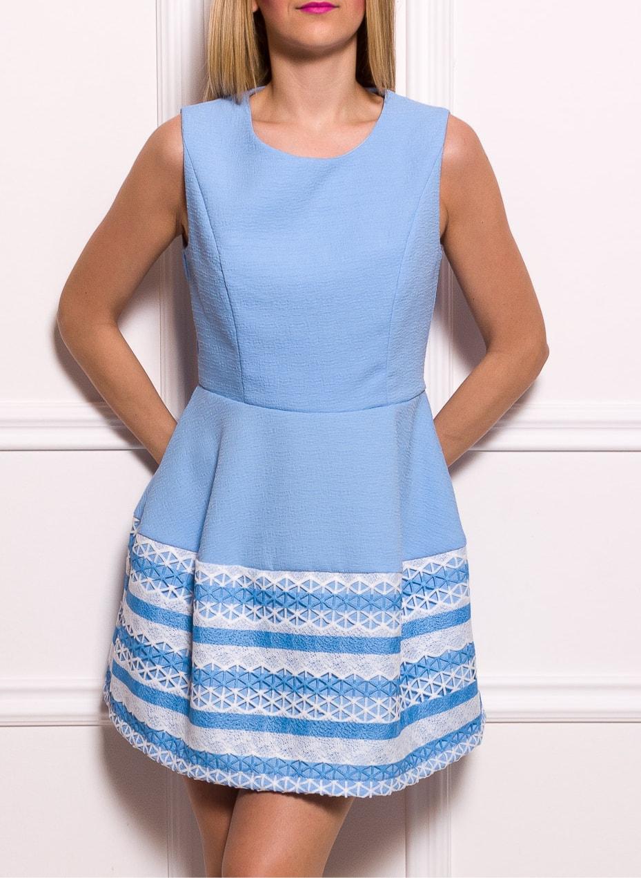 cd645d014f Glamadise.hu Fashion paradise - Női A-vonalú ruha Due Linee - Kék ...