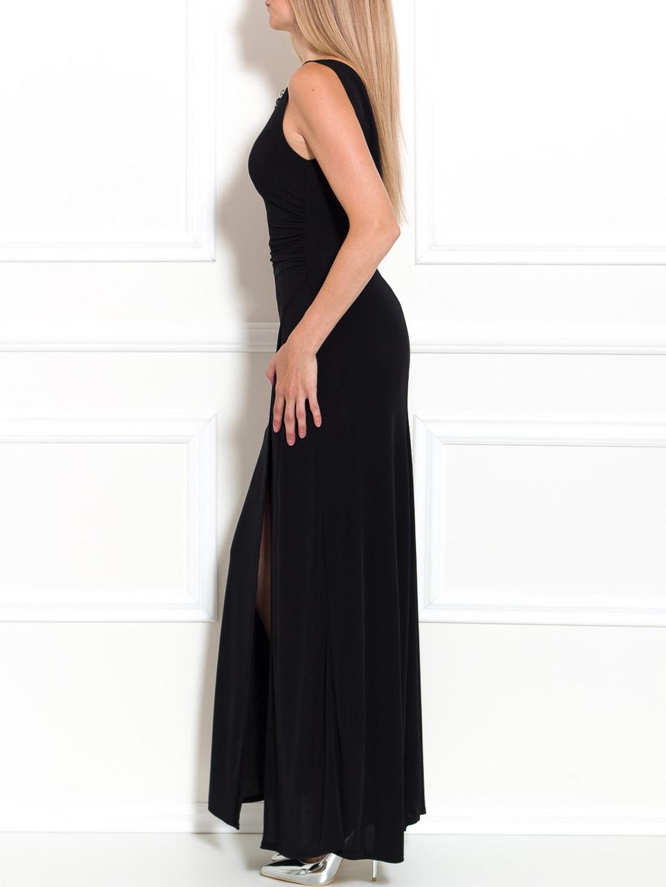 20023052867b Glamadise.sk - Spoločenské dlhé šaty so zlatým zdobením - čierna ...