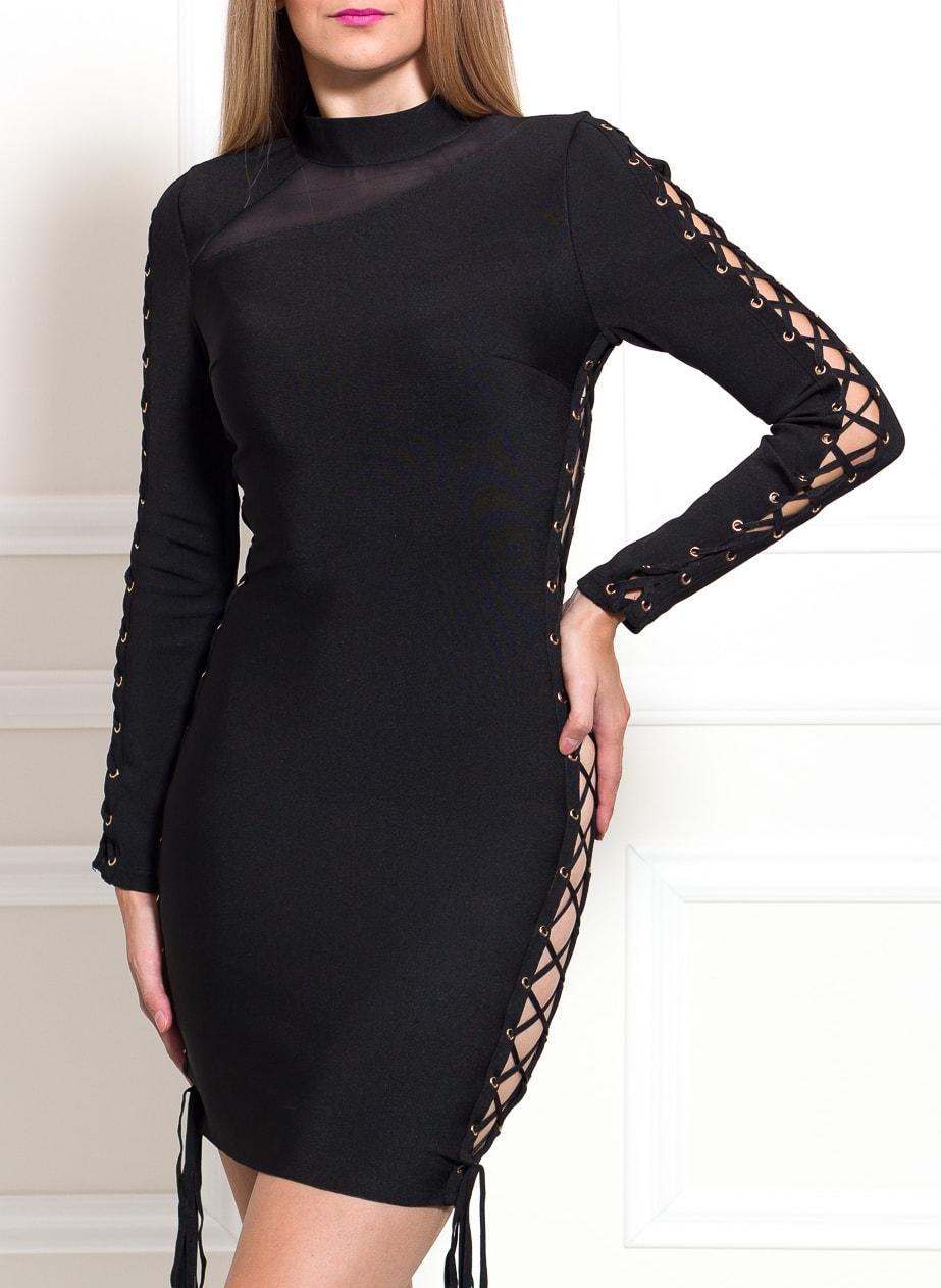 c6364712a4 Glamadise.hu Fashion paradise - Női bandázs ruha Due Linee - Fekete ...
