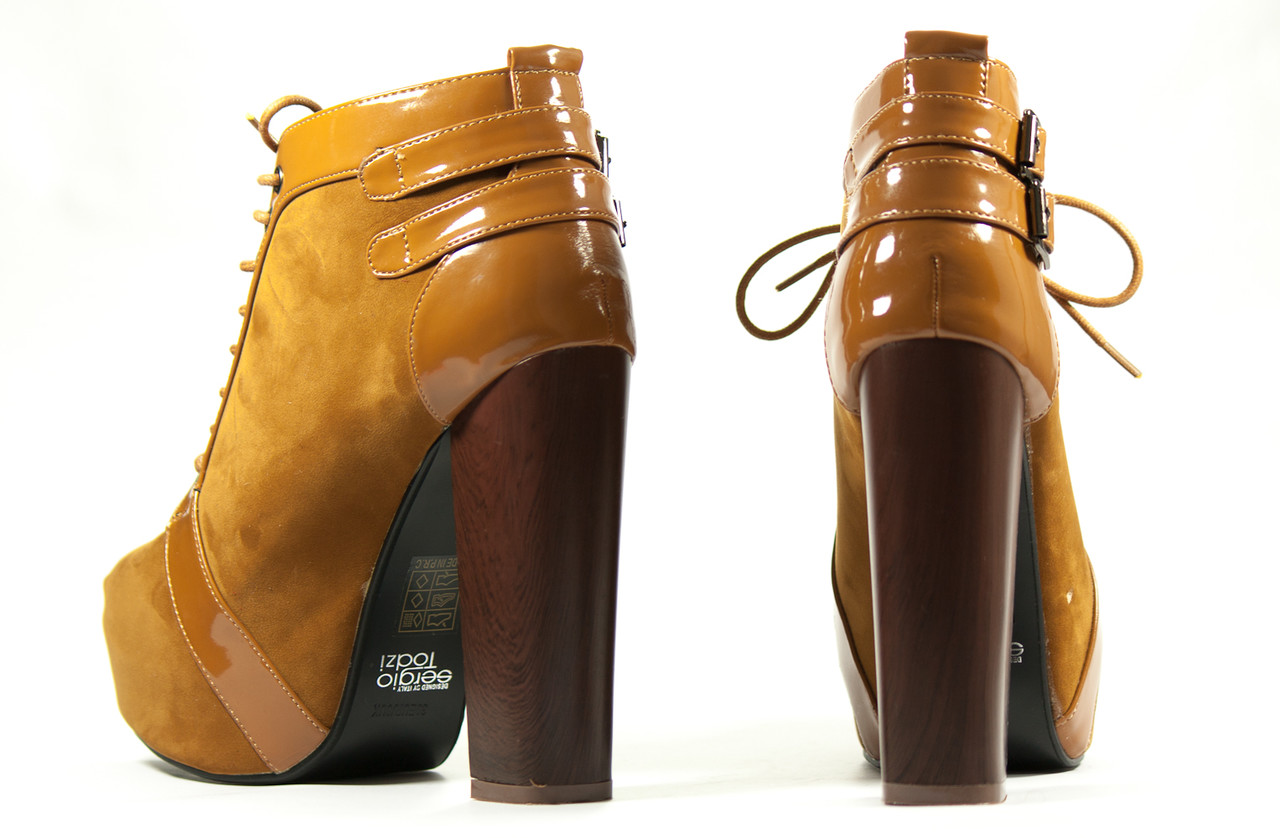 b5ba00ec0d384 Glamadise.sk - Dámske členkové topánky na platforme camel hnedé ...
