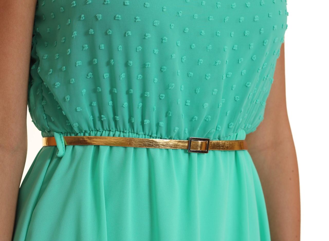 0b6b99b20d1d Letní šaty s puntíky a zlatým páskem zel. - Glamorous by Glam - Šaty ...