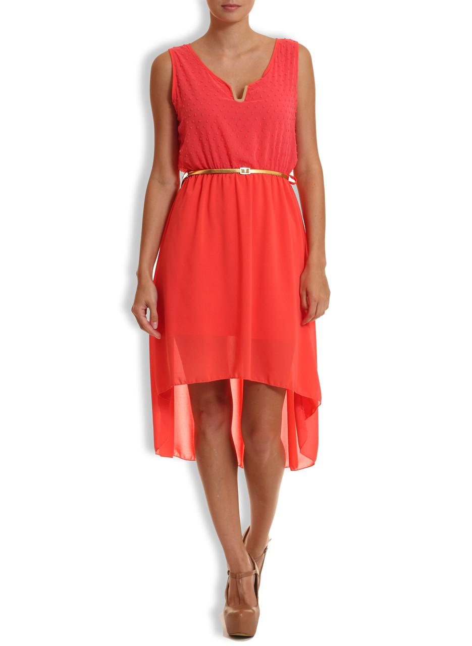 178b5ad57 Letní šaty s puntíky a zlatým páskem cihl. - Glamorous by Glam ...