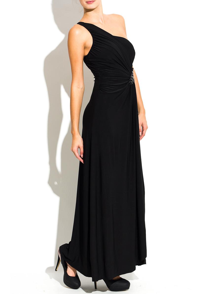 fb5e46b5ab4a Glamadise.sk - Spoločenské dlhé šaty s korálkami na jednom boku ...