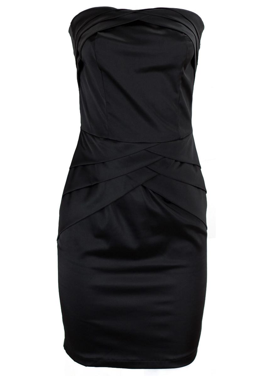 2979c61e637d Lesklé šaty bez ramínek - černá - Glamorous by Glam - Šaty - Dámské ...