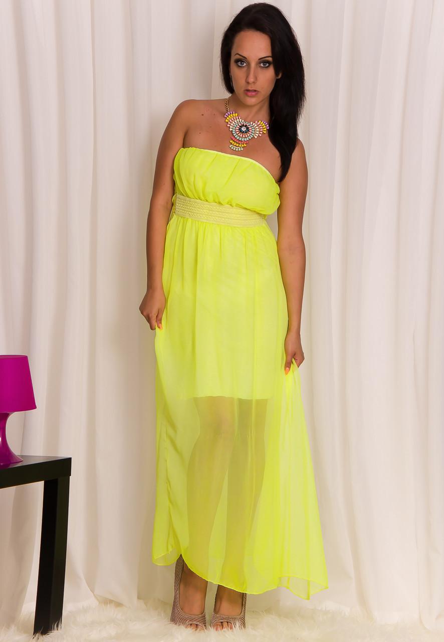 6c1bd1d2ed2d Glamadise.sk - Dámske letné ľahké šaty žlté - Glamorous by Glam ...