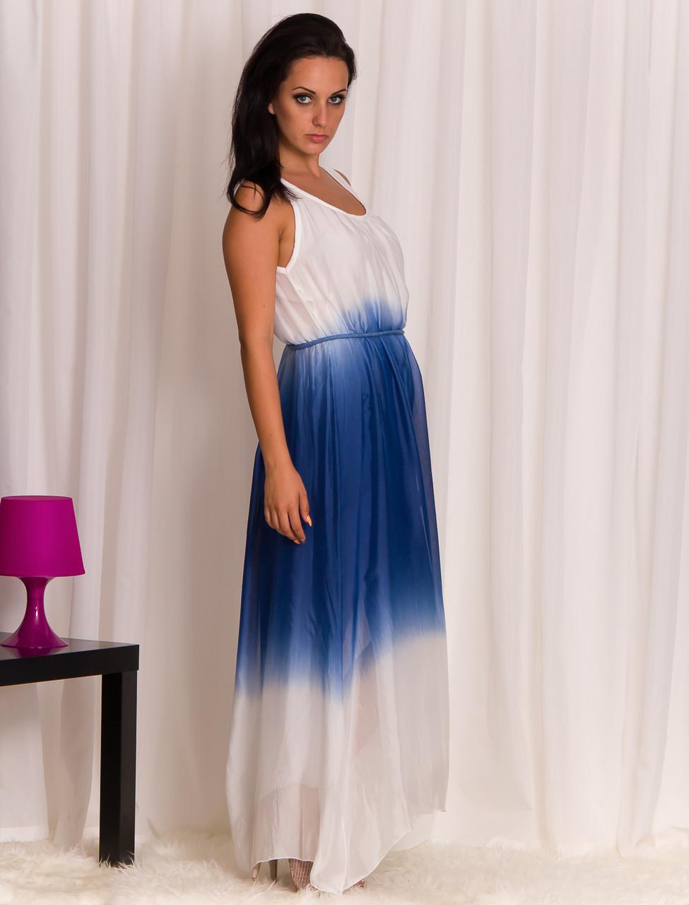 da80473ce87a Hedvábné Šaty Letní Glamorous Modré Dámské Glam By Dlouhé 54RLj3Aq
