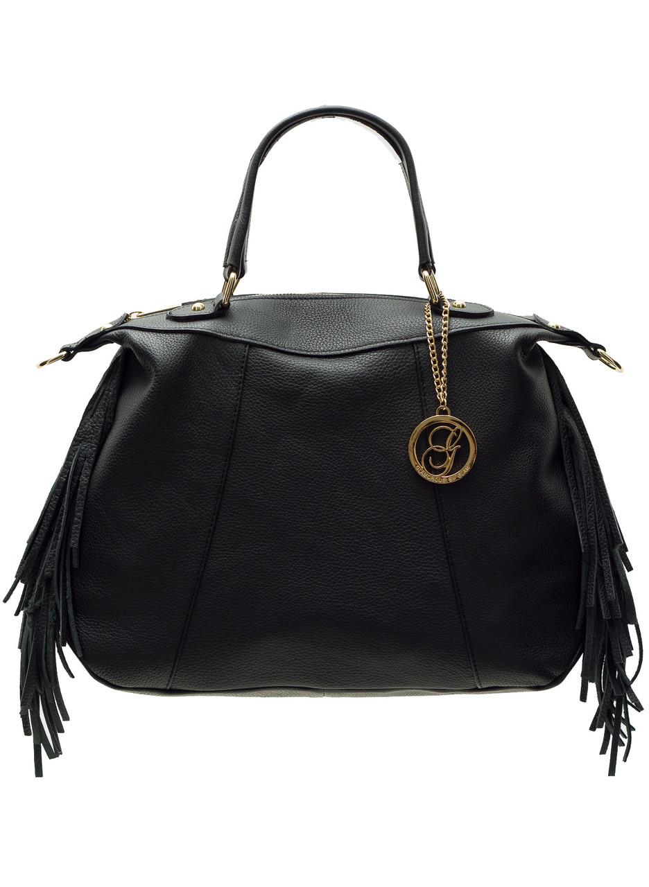 dfab4b4536 Glamadise.sk - Kožená kabelka so strapcami čierna - Glamorous by ...