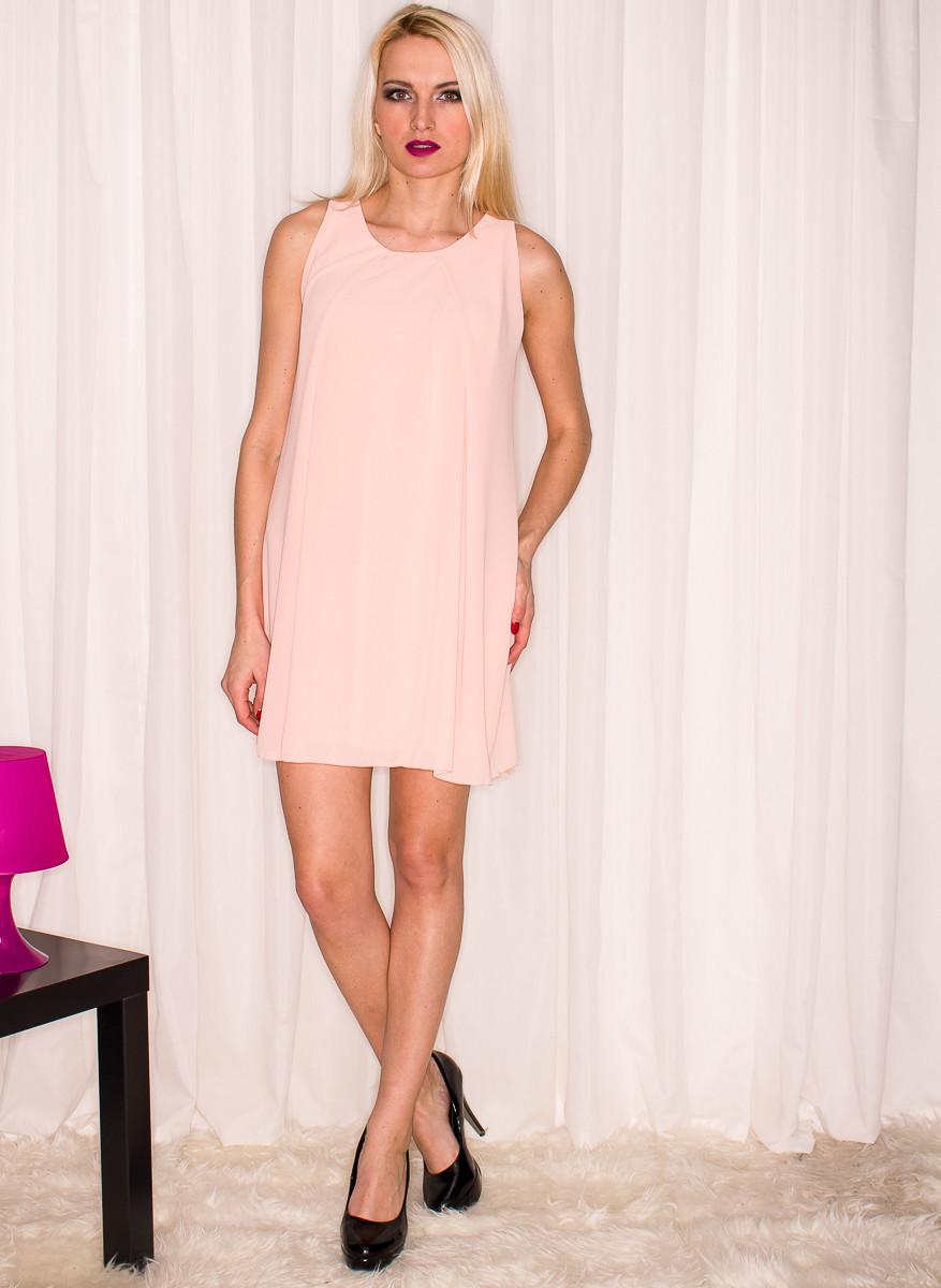 ddcf9e132ed6 Dámské letní šaty volný střih - lososová - Glamorous by Glam - Šaty ...