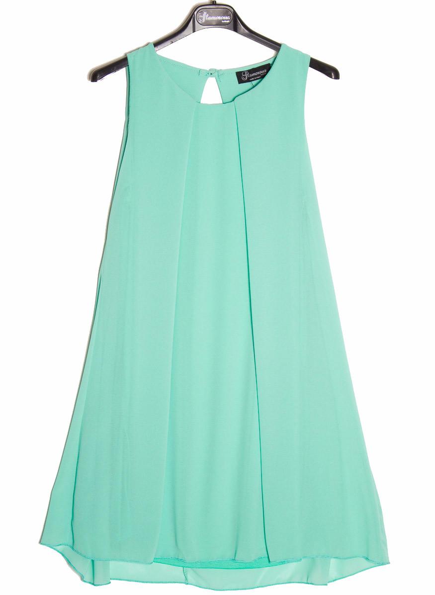 a2d67eef37fa Dámské letní šaty volný střih - zelená - Glamorous by Glam - Šaty ...