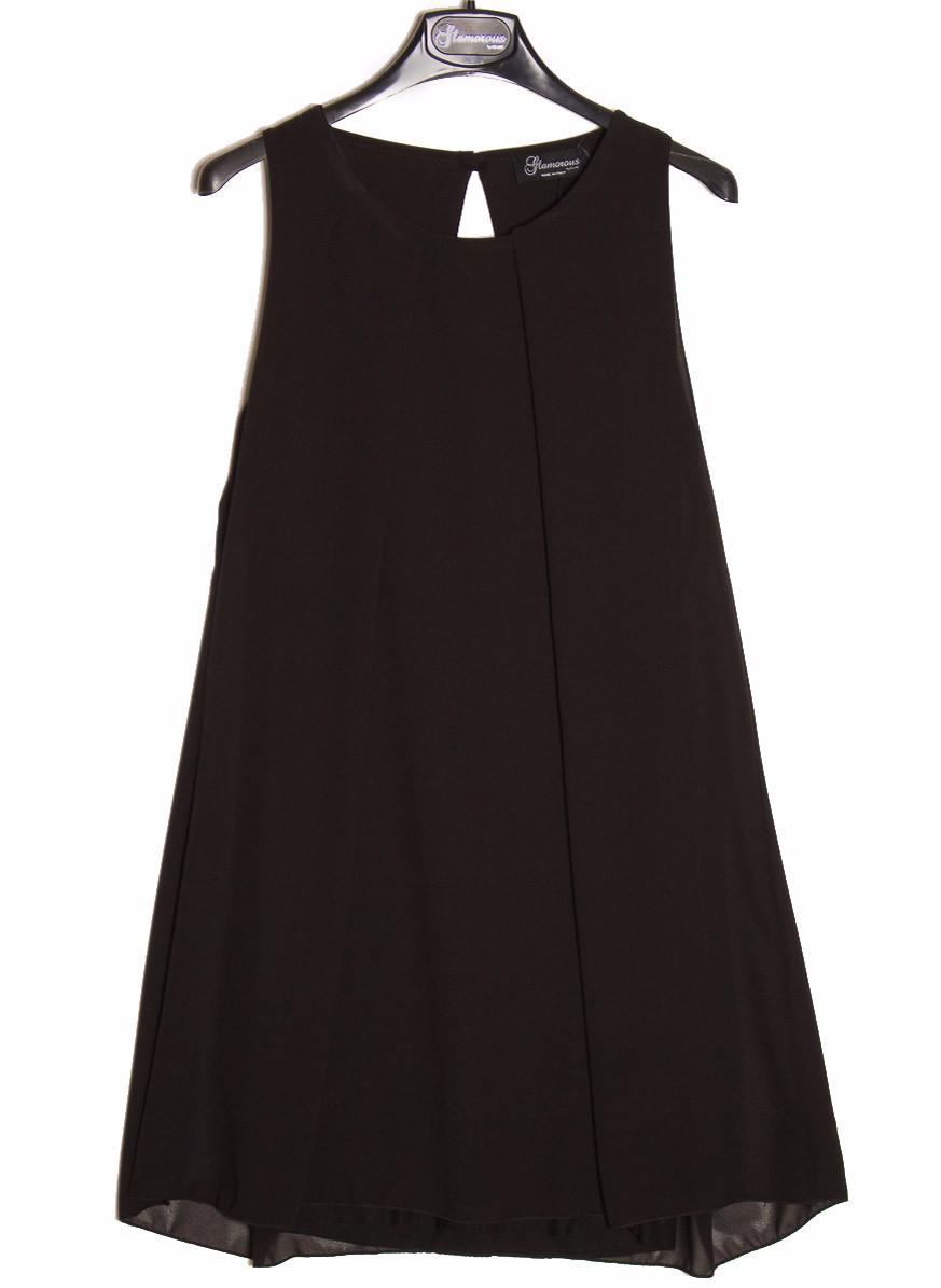 1b9beac4622c Dámské letní šaty volný střih - černá - Glamorous by Glam - Šaty ...