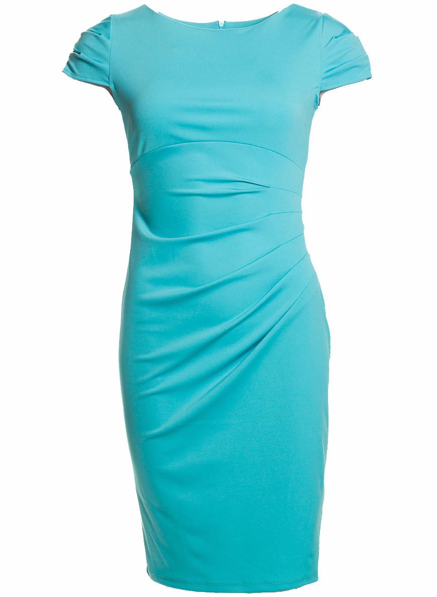 9affec126bc2 Dámské elegantní šaty s řasením na boku - tyrkysová - Glamorous by ...