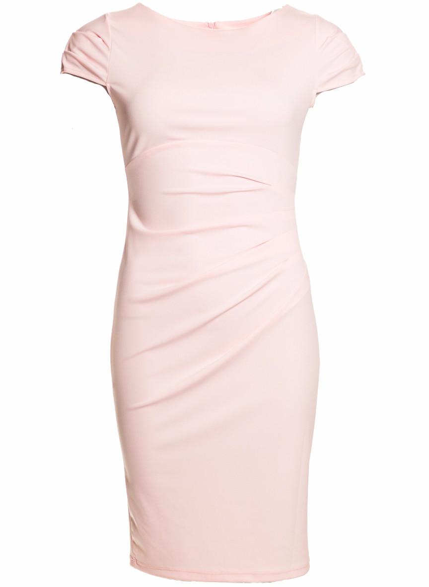 a964b57e55b6 Glamadise.sk - Dámske elegantné šaty s riasením na boku - svetlo ...
