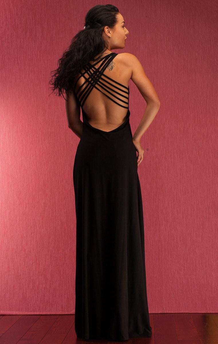 40779465ab Glamadise.sk - Spoločenské dlhé šaty s tenkými ramienko a zdobením ...
