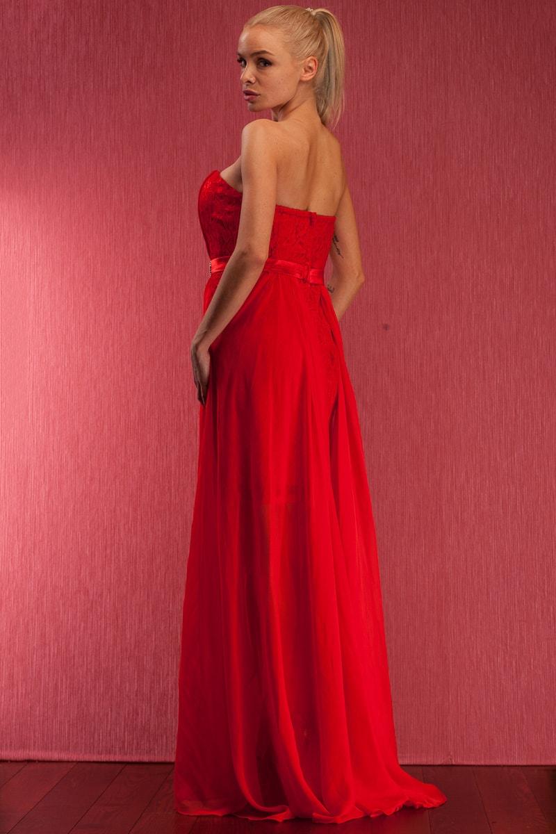 0c43841cb3d3 Glamadise.sk - Spoločenské dlhé i krátke šaty bez ramienok s čipkou ...