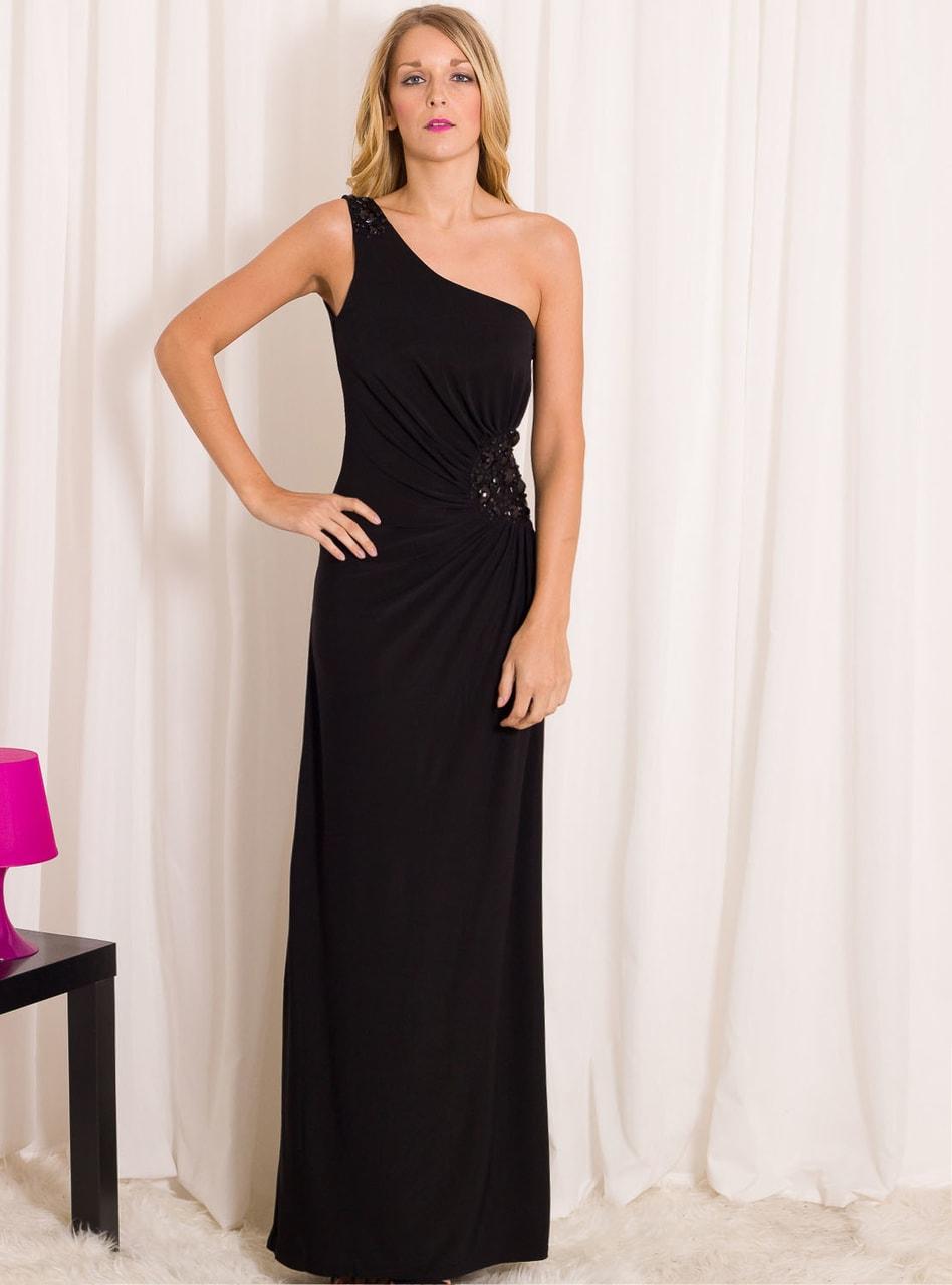 40356806195f Glamadise.sk - Spoločenské dlhé šaty na jedno rameno so zdobením ...
