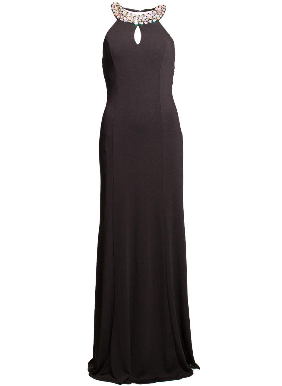 2dc850066c77 Glamadise.sk - Spoločenské dlhé šaty s kamienkami okolo krku a ...