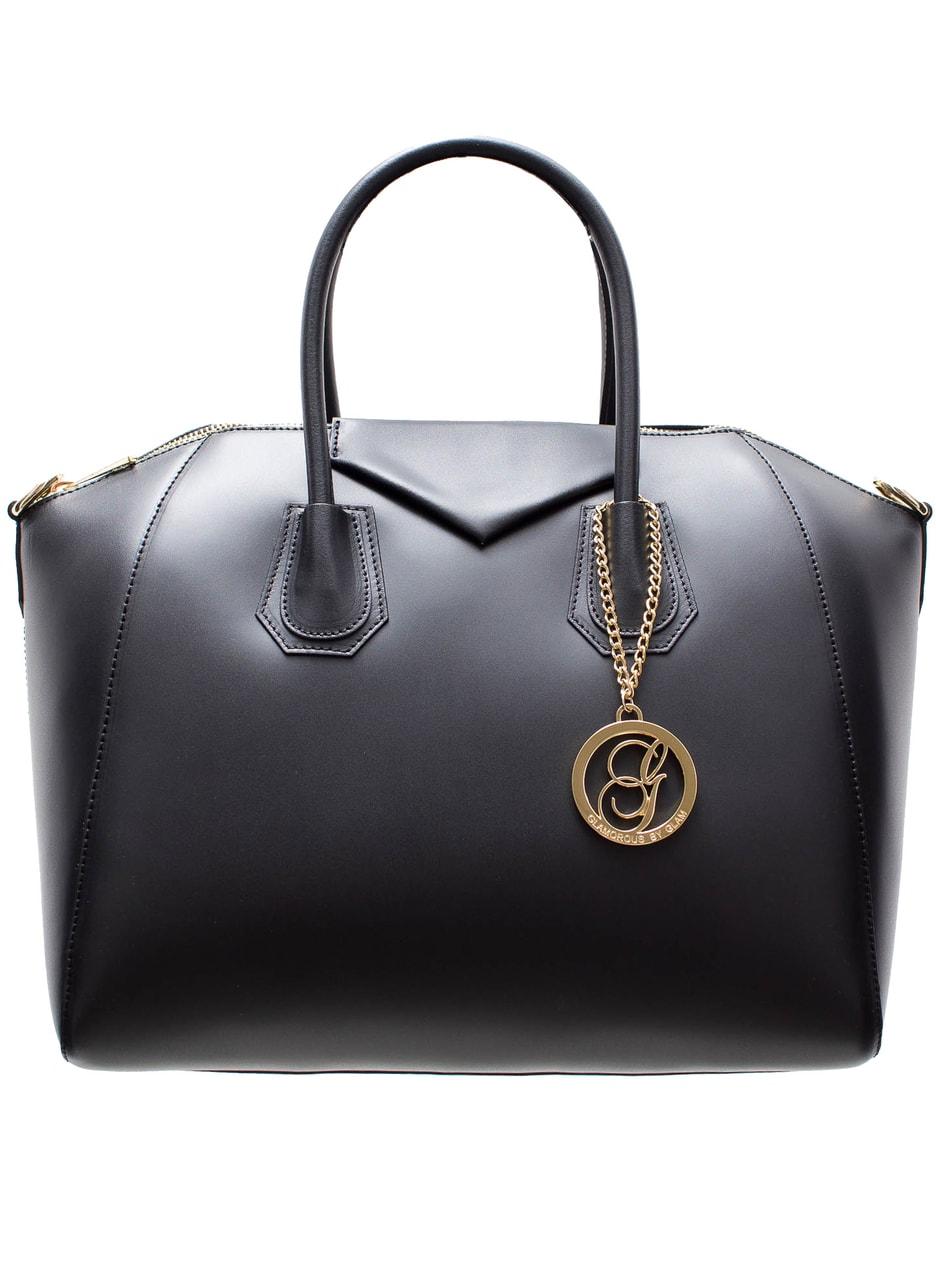 60566d6eb5 Glamadise.sk - Kožená matná kabelka do ruky - čierna - Glamorous by ...