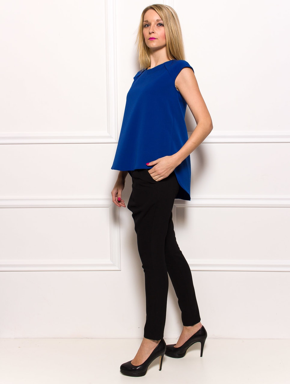 d20910ddc3fd Glamadise.hu Fashion paradise - Női top Rinascimento - Kék ...