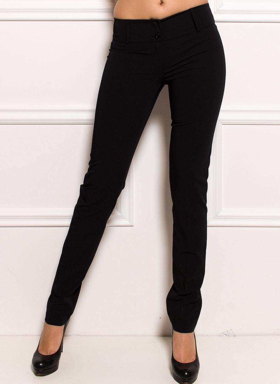 904c1ba5e Dámské společenské kalhoty s puky - černá - Glamorous by Glam ...