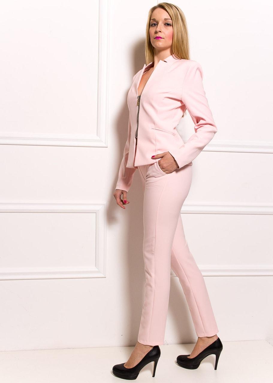 aabc5e67cedd Dámské elegantní sako na zip - světle růžová - Glamorous by Glam ...