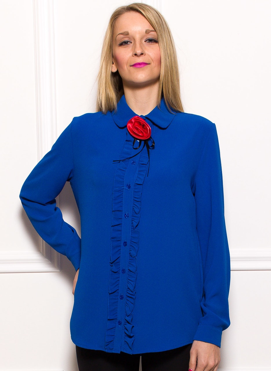 c2d8a958e6b3 Glamadise.hu Fashion paradise - Női top Glamorous by Glam - Kék ...