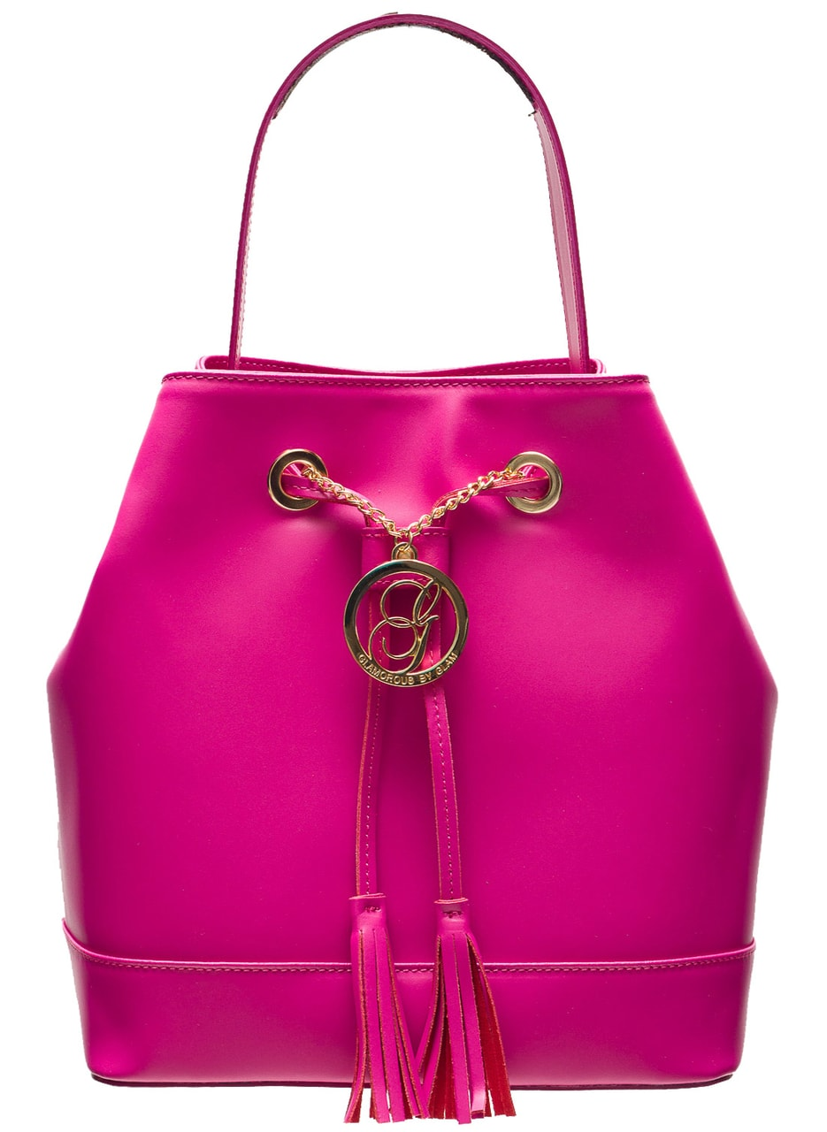 70088c65ff Glamadise.sk - Dámska kožená kabelka vak - ružová - Glamorous by ...