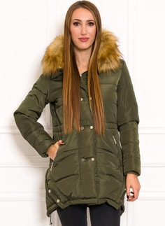 Women's winter jacket Due Linee - Green
