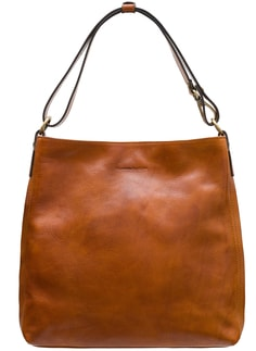 Real leather shoulder bag Glamorous by GLAM - Brown