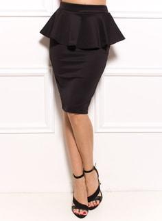 69131bb3ca82 Dámske luxusné crop top s volánom - biela. Dolaďte si outfit. Sukne dlhší s  peplum čierna ...