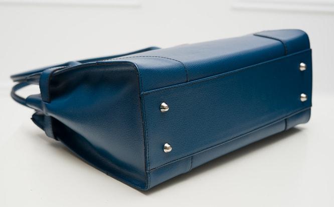 e58aa050cd Glamadise.sk - Dámska kožená kabelka dlhé ucho STEFANIE - modrá ...