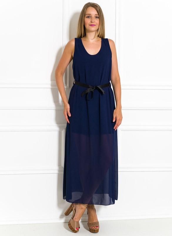 7c010b6dfd50 Glamadise.sk - Dlhé šaty tmavo modré šifónové - Glamorous by Glam ...