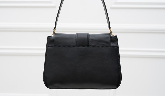 Real leather shoulder bag Michael Kors - Black