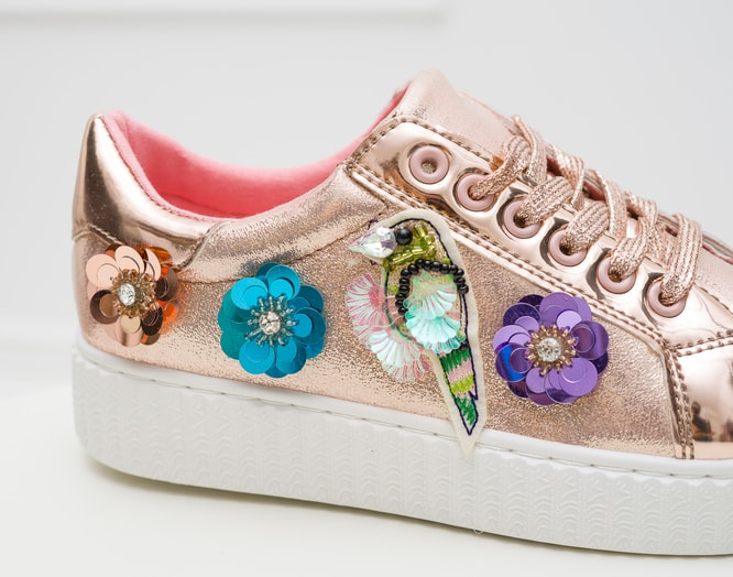 Women's sneakers GLAM&GLAMADISE shoes - Pink