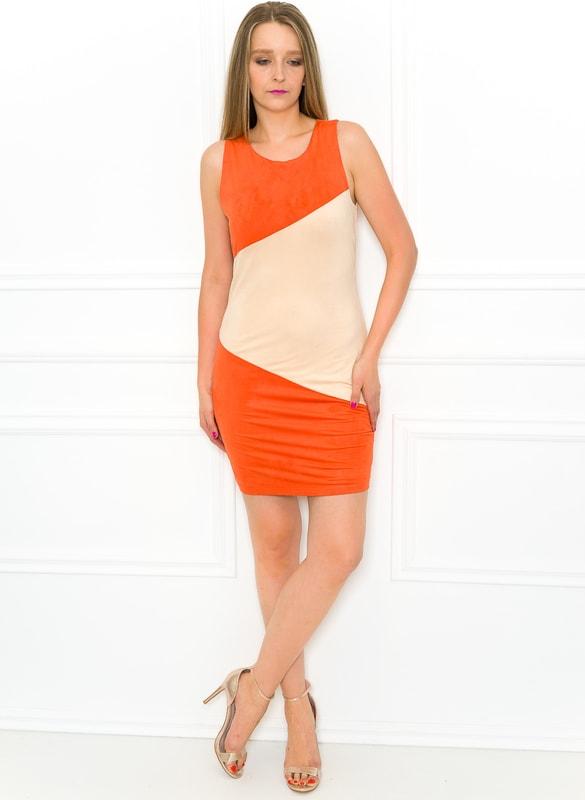 6061070d7be7 Dámské šaty oranžovo - béžové - Každodenní šaty - Šaty