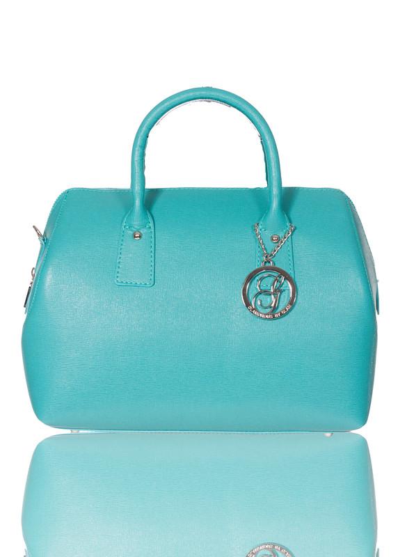 923cc6487c Glamadise.sk - GbyG kožená kabelka razený azúrová - Glamorous by ...