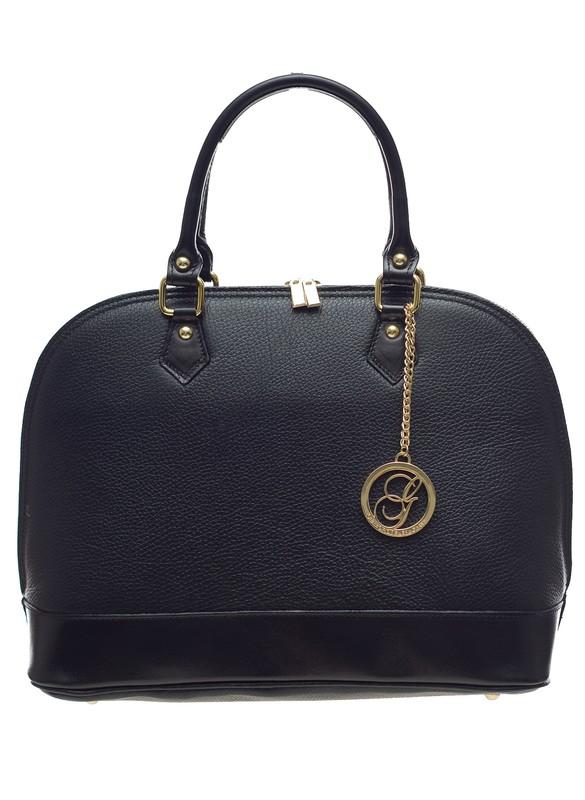 1299aedf97 Glamadise.sk - Kožená kabelka do ruky čierna - Glamorous by GLAM ...