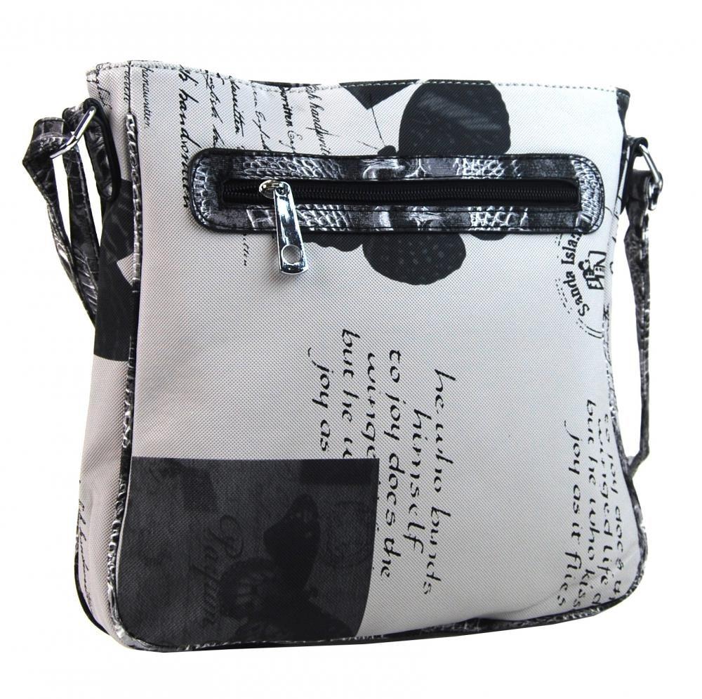 d8b4607160 Crossbody dámská kabelka s potiskem 1024 černá ...
