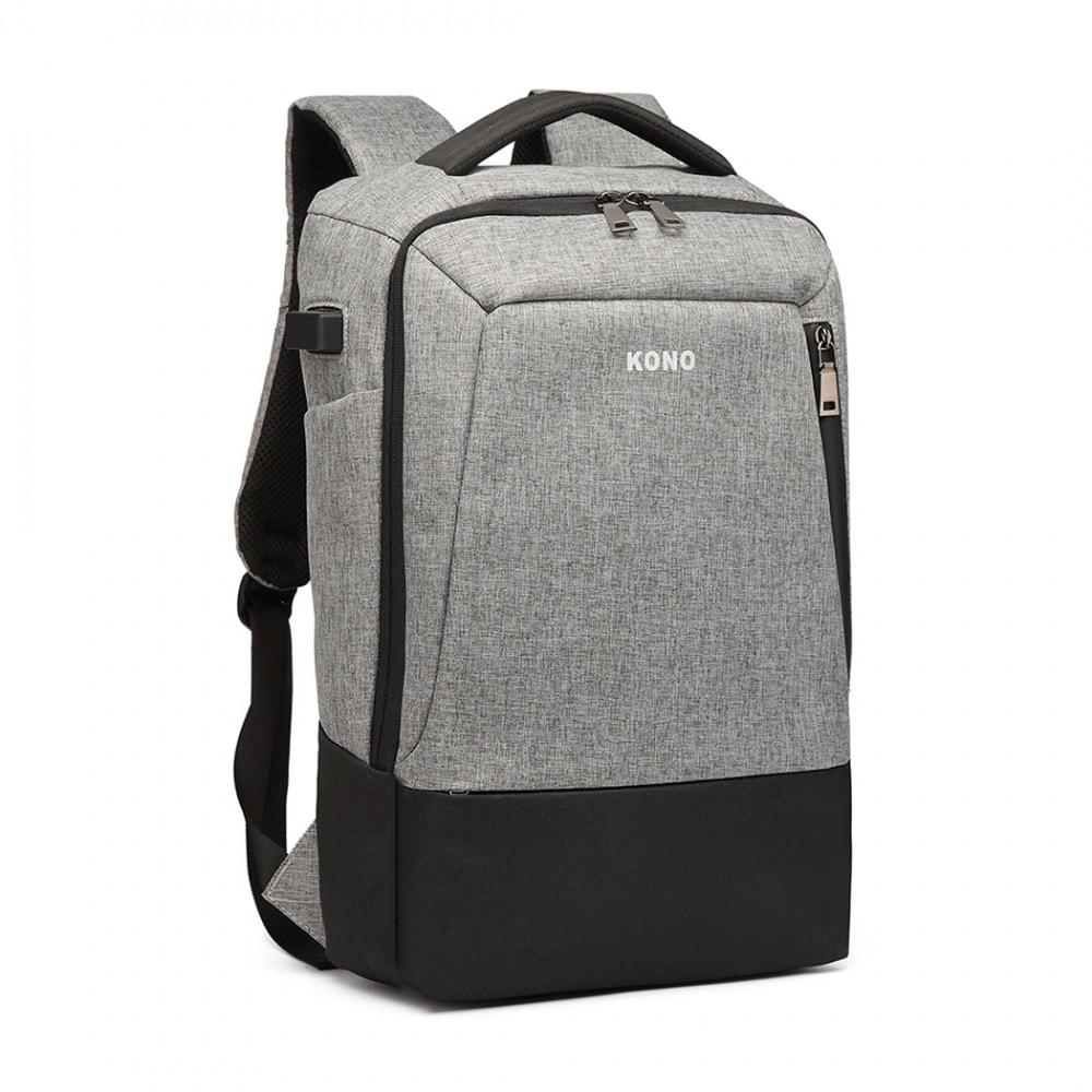 abf8478233 ... Luxusní šedý batoh s USB portem UNISEX ...