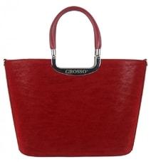 2577cc52f7 Sytě červená stylová dámská kabelka do ruky S7