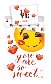 "Povlečení Emoji ""You are so sweet"" 140x200, 70x90 cm"