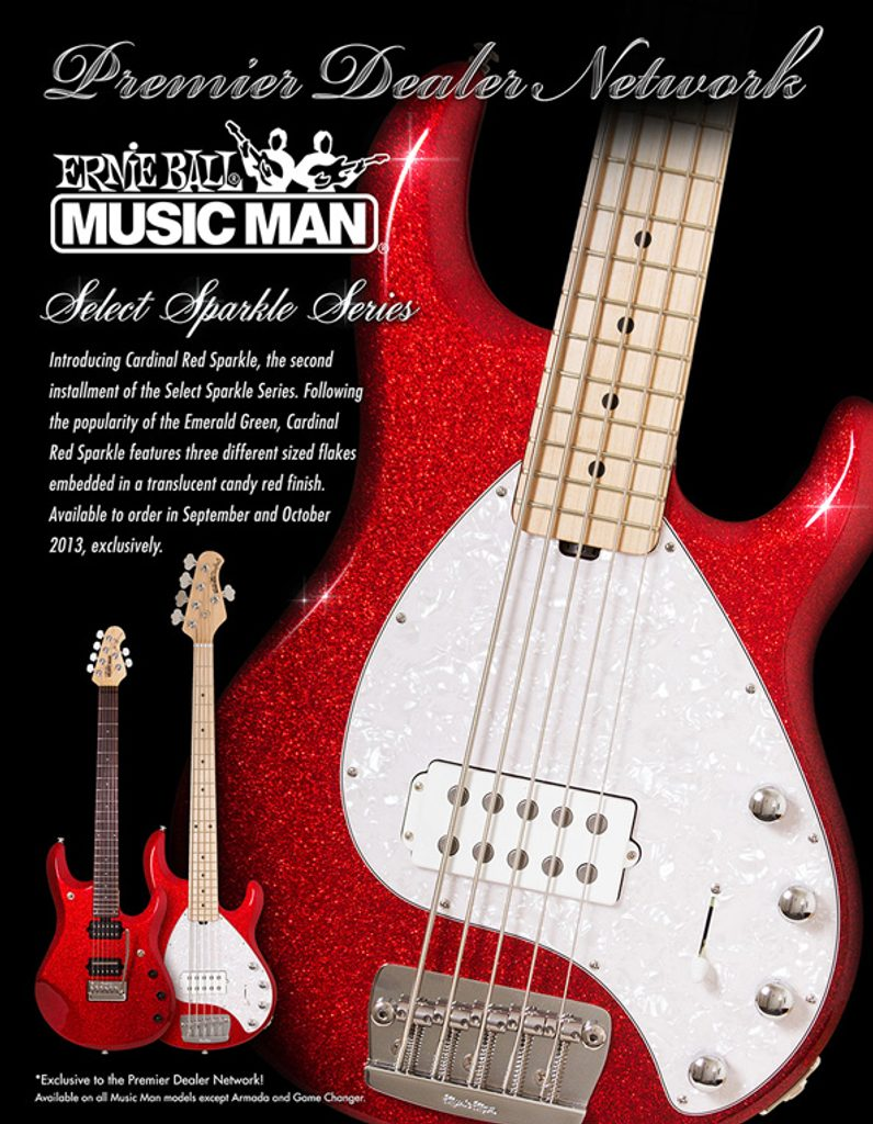 MusicMan StingRay Sparkle Red
