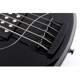 MusicMan Stingray Special 5 H Black, Black Hardware, Roasted Neck, Ebony fingerboard - elektrická baskytara