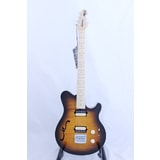 MusicMan Axis Super Sport Semi-Hollow HH Trem - Tobacco Burst Flame- Maple matching Head