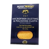 MusicNomad MN230 Microfiber Dusting & Microfiber Polishing Cloth for Pianos & Keyboards